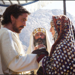 DF-09290_9286_COMP - Moses (Christian Bale) weds Zipporah (María Valverde)with her father, Jethro (Kevork Mailkyan, center).