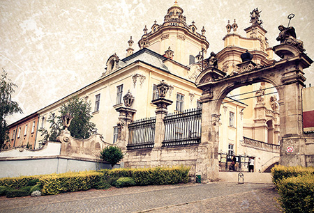 Ukraine. Lviv. Greek Catholic Cathedral of Saint George - the ar