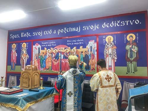 V Družstevnej pri Hornáde posvätili nové ikony a slávili chrámový sviatok