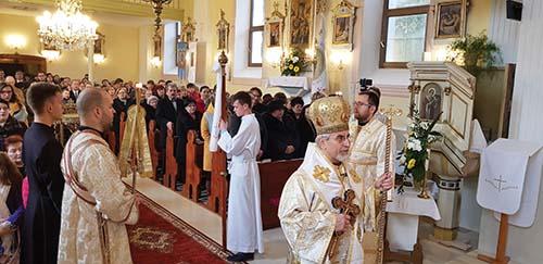 Vladyka Milan posvätil obnovenú Cerkev Zosnutia Presvätej Bohorodičky