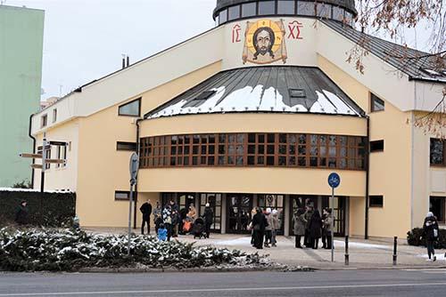 Vladyka Milan Chautur posvätil novú mozaiku v Spišskej Novej Vsi