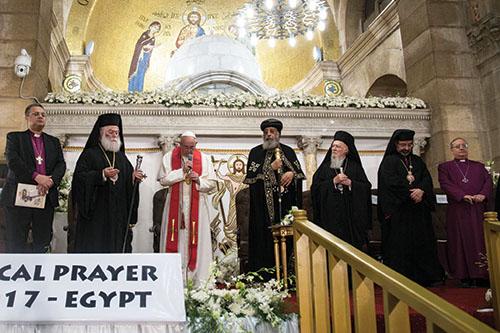 Mierový pápež v mierovom Egypte