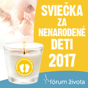 15. ročník projektu Sviečka za nenarodené deti