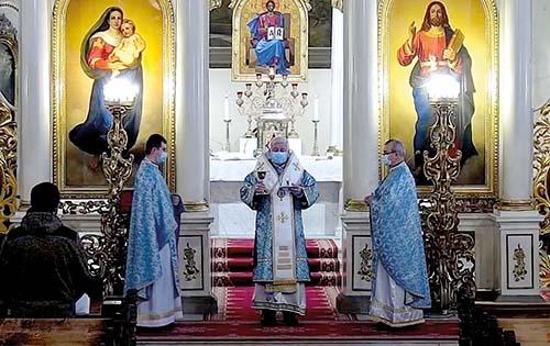 Vladyka Ján slávil svätú liturgiu za kňazov na odpočinku